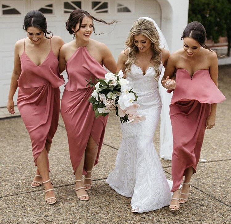 Dusty Rose Bridesmaid Dresses Online