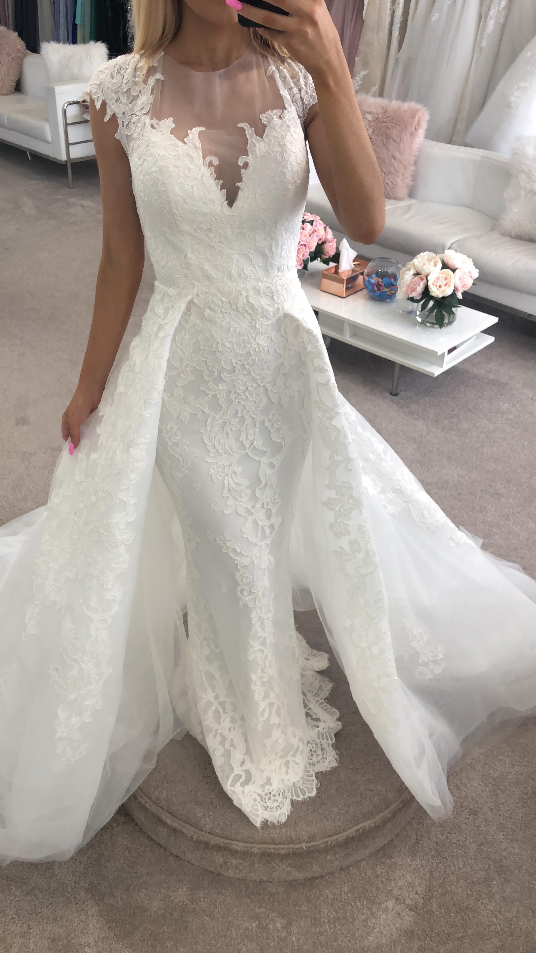 Alison 18130 Calla Blanche Wedding Dresses Online Australia Bridal Overlay Skirt Sydney Melbourne Adelaide Perth Brisbane Canberra