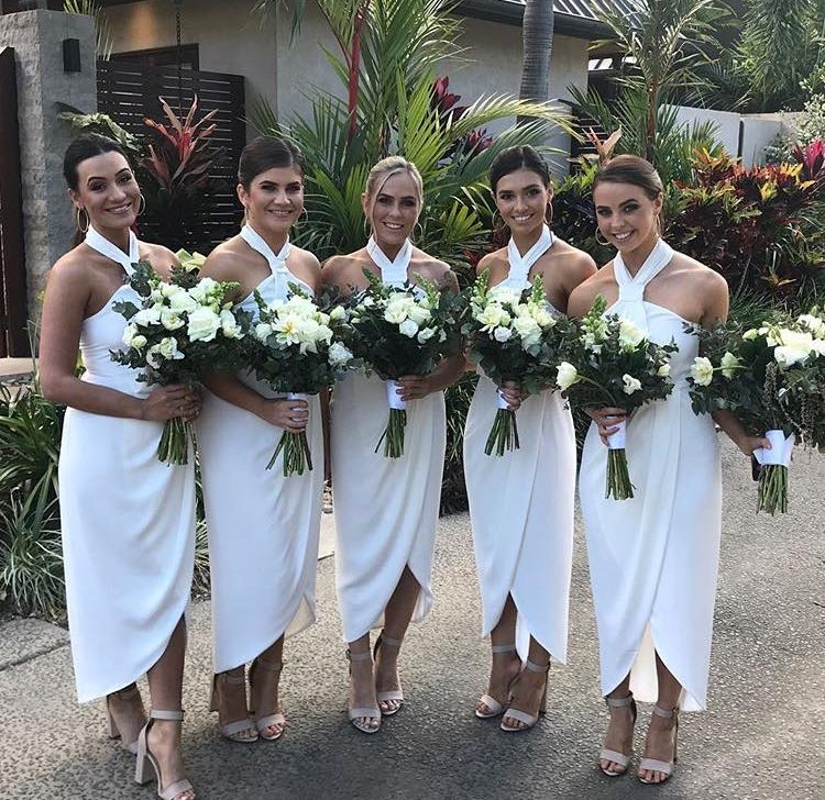 Knot Draped Dress White Bridesmaids Dresses Shona Joy Bridesmaids Online Afterpay Sydney Melbourne
