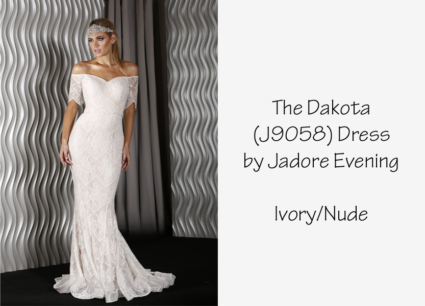 Dakota Lace Dress (9058) by Jadore Evening Cheap Wedding Dress