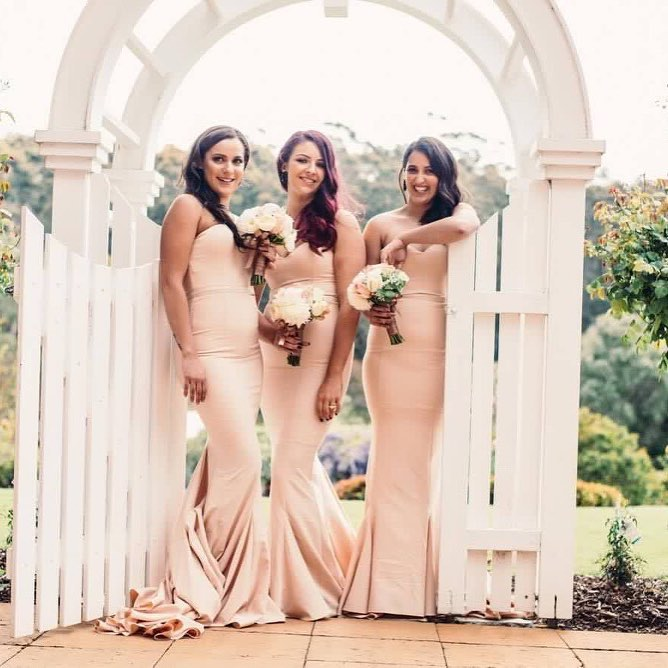 Champagne bridesmaid dresses online australia afterpay arianna elle zeitoune school formal dress