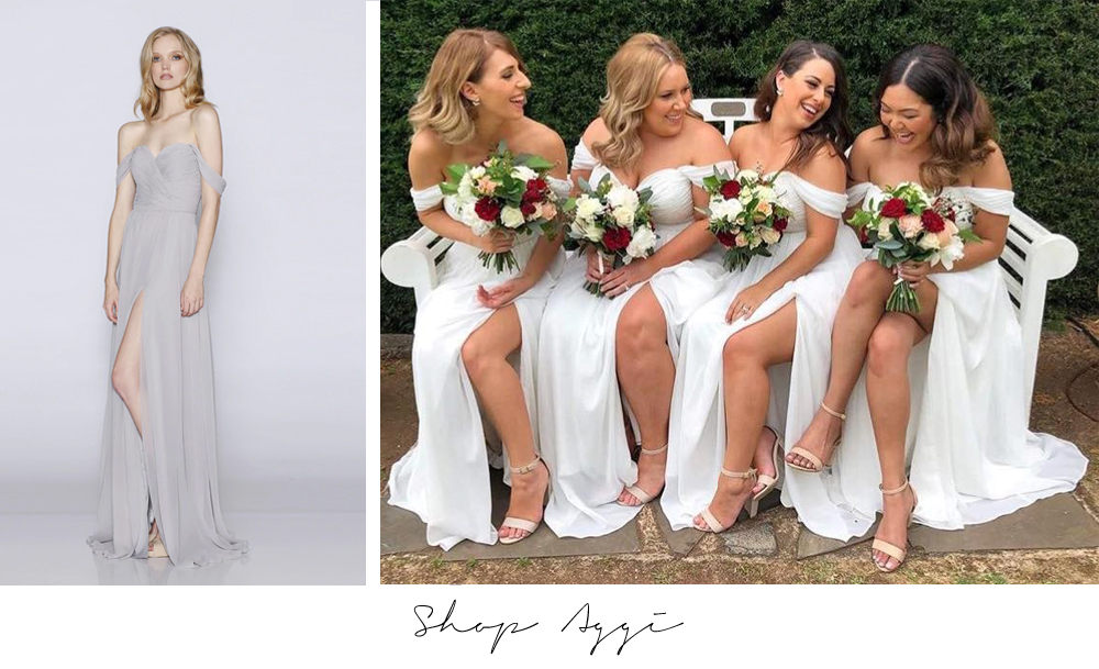 Aggi LD1073 Les Demoiselle White Bridesmaid Dresses Australia Sydney Melbourne Adelaide Perth Brisbane Afterpay