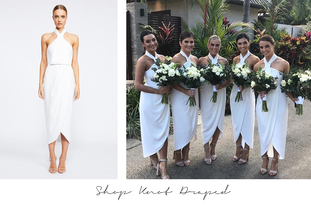 knot draped dress shona joy white bridesmaid dresses australia sydney melbourne adelaide perth brisbane afterpay