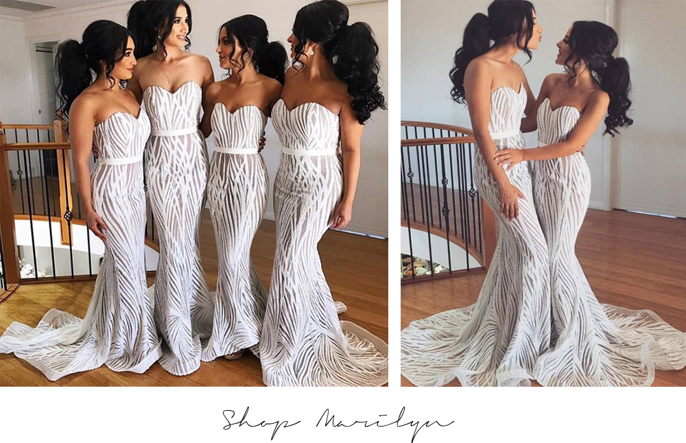 JX039 Marilyn Jadore White Bridesmaid Dresses Australia Sydney Melbourne Adelaide Perth Brisbane Afterpay