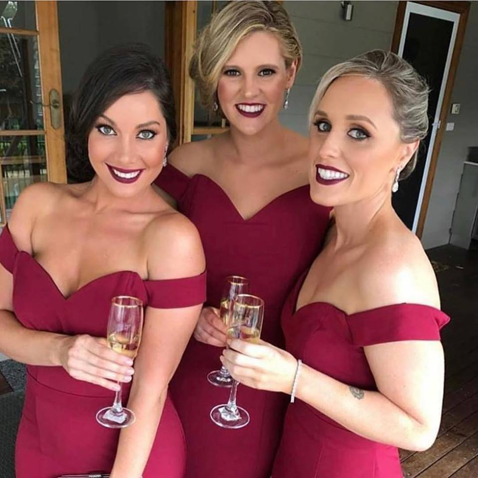 Wine bridesmaid dresses online burgundy 8017 jadore dresses afterpay australia
