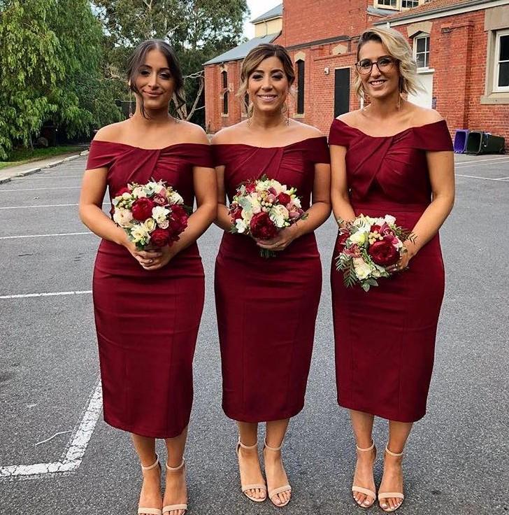 Myah JX077 Cocktail Burgundy Bridesmaids Dresses Jadore