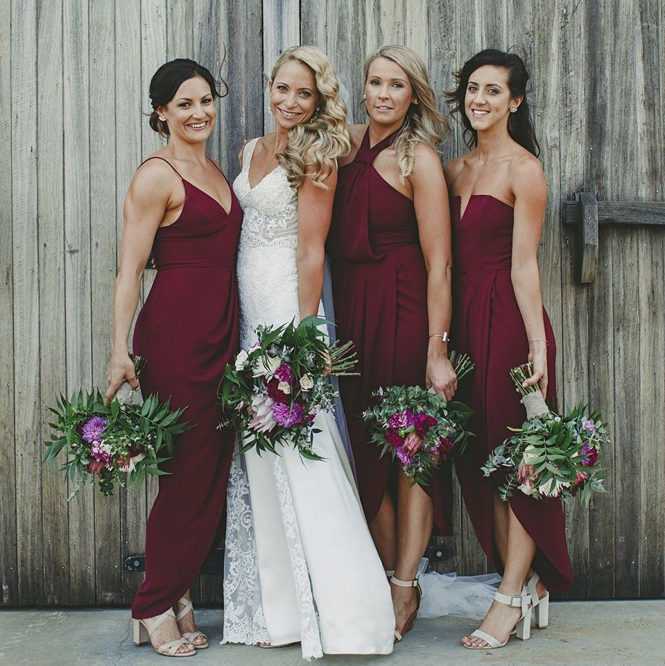 Fashion week Bridesmaid lace dresses australia for lady
